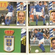 Cromos de Fútbol: 4 CROMOS DIFERENTES Y NUEVOS DEL OVIEDO. .LISTA. 1997 1998 EDICIONES ESTE. NUEVO. 97 98. Lote 255598270
