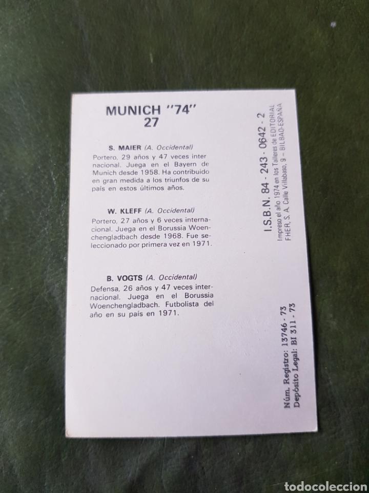 Cromos de Fútbol: Cromo antiguo Alemania occidental - Munich 74 - Foto 2 - 255598475