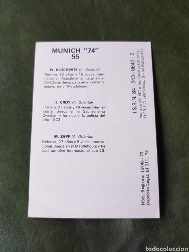 Cromos de Fútbol: Cromo antiguo Alemania occidental - Munich 74 - Foto 2 - 255599540