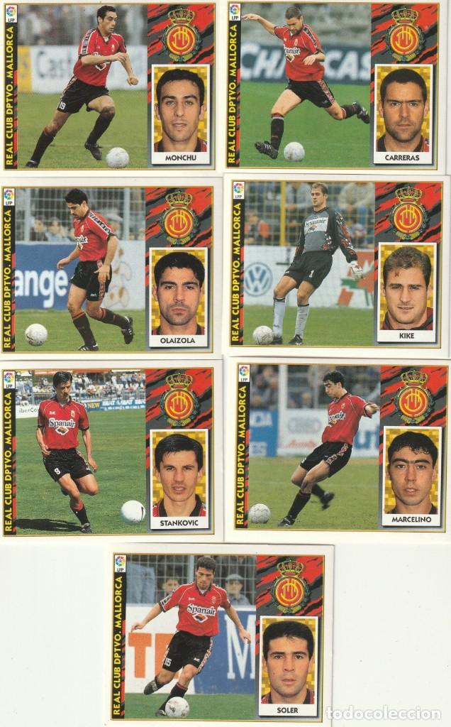 7 CROMOS DIFERENTES Y NUEVOS DEL MALLORCA. .LISTA. 1997 1998 EDICIONES ESTE. NUEVO. 97 98 (Coleccionismo Deportivo - Álbumes y Cromos de Deportes - Cromos de Fútbol)