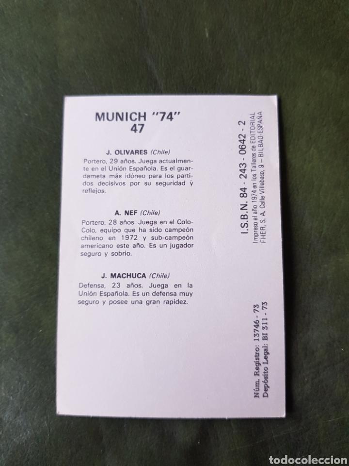 Cromos de Fútbol: Cromo antiguo chile - Munich 74 - Foto 2 - 255601360