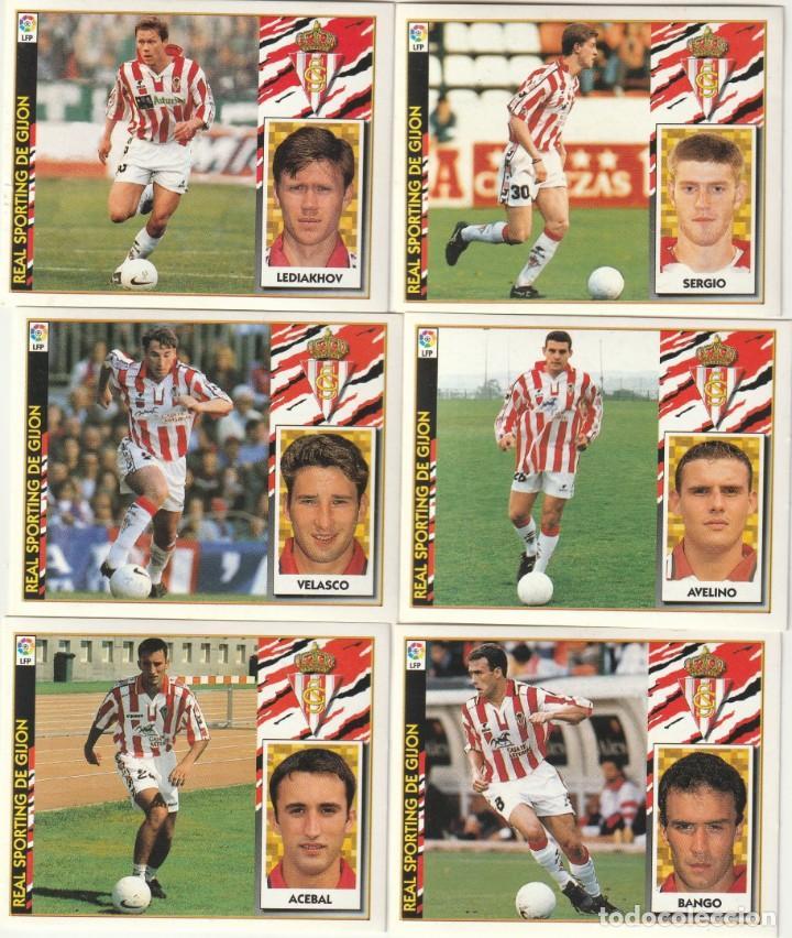 6 CROMOS DIFERENTES Y NUEVOS SPORTING DE GIJON. .LISTA. 1997 1998 EDICIONES ESTE. NUEVO. 97 98 (Coleccionismo Deportivo - Álbumes y Cromos de Deportes - Cromos de Fútbol)