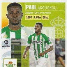 Cromos de Fútbol: 4ª EDICION 9 PAUL DEL BETIS 2020 2021 ED.ESTE. NUEVO DE SOBRE. PANINI.. Lote 255923235