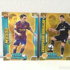 Cromos de Fútbol: Nº388 CRISTIANO RONALDO Y Nº389 MESSI MEGACRACKS 2010/2011 MEGA CRACKS 10 11. Lote 255923375