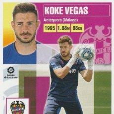 Cromos de Fútbol: 3 KOKE VEGAS PORTERO DEL LEVANTE 2020 2021 ED.ESTE. NUEVO DE SOBRE. PANINI.. Lote 255923435