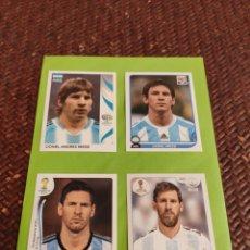 Cromos de Fútbol: MESSI 4 CROMOS MUNDIALES ,N 185 ,N 122 ,N 430 ,N 288 EN PERFECTO ESTADO. Lote 255925260