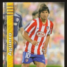 Cromos de Fútbol: #101. SERGIO AGUERO - ATLETICO DE MADRID 2009/2010 - MUNDICROMO FICHAS LIGA CARD/CROMO 09/10. Lote 255925700