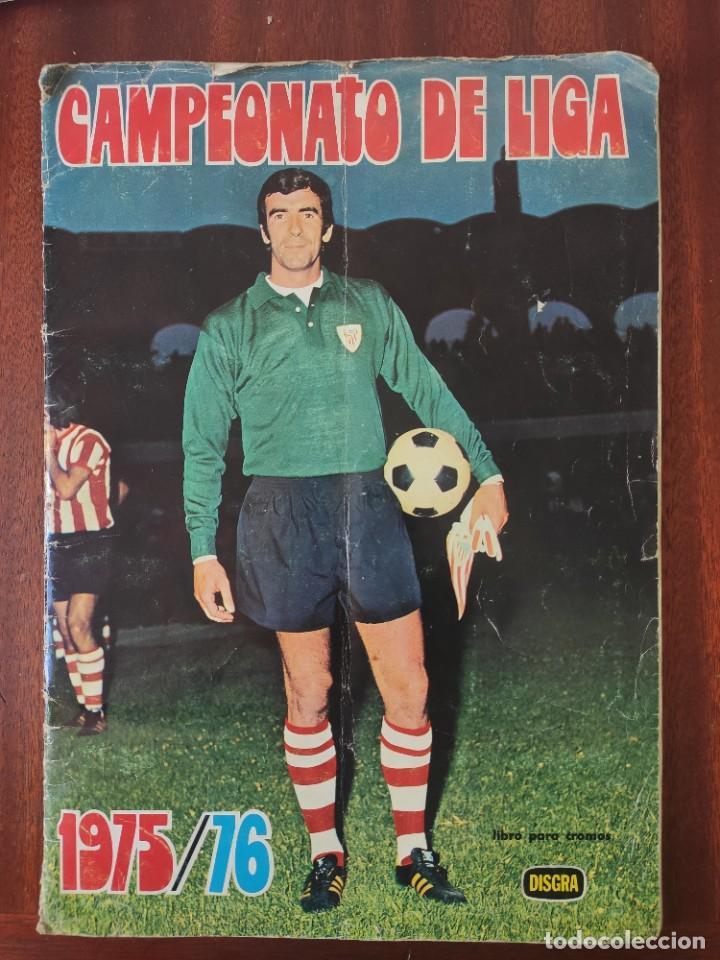 ALBUM DE CROMOS - CAMPEONATO DE LIGA 1975/76 - DISGRA (Coleccionismo Deportivo - Álbumes y Cromos de Deportes - Cromos de Fútbol)