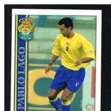 Cromos de Fútbol: FICHAS DE LA LIGA 2001 (2000-2001) - MUNDICROMO - Nª 374 PABLO LAGO - NUEVO. Lote 256064830
