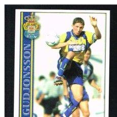 Cromos de Fútbol: FICHAS DE LA LIGA 2001 (2000-2001) - MUNDICROMO - Nª 378 GUDJONSSON - NUEVO. Lote 256065745