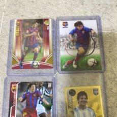 Cromos de Fútbol: LOTE X4 MESSI ROOKIE - BARÇA CAMPIO 2004 MGK 2005 2006 ( VER FOTOS ). Lote 277839993
