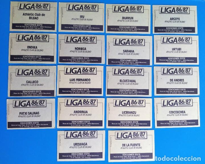 Cromos de Fútbol: Liga Este 1986 1987 / 86 87 Lote de 340 cromos diferentes nunca pegados - Foto 3 - 257319230