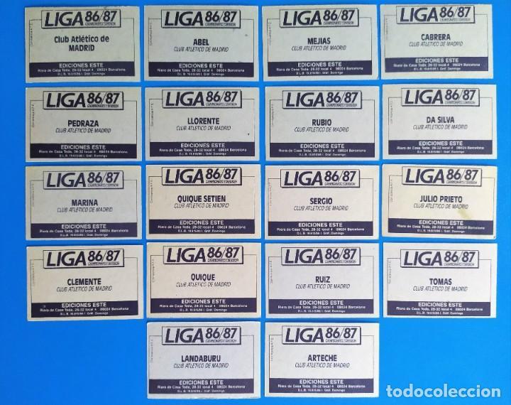Cromos de Fútbol: Liga Este 1986 1987 / 86 87 Lote de 340 cromos diferentes nunca pegados - Foto 5 - 257319230