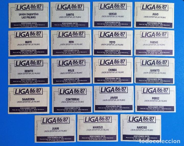 Cromos de Fútbol: Liga Este 1986 1987 / 86 87 Lote de 340 cromos diferentes nunca pegados - Foto 15 - 257319230