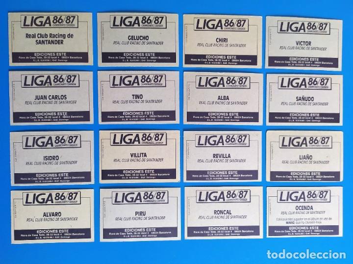 Cromos de Fútbol: Liga Este 1986 1987 / 86 87 Lote de 340 cromos diferentes nunca pegados - Foto 25 - 257319230