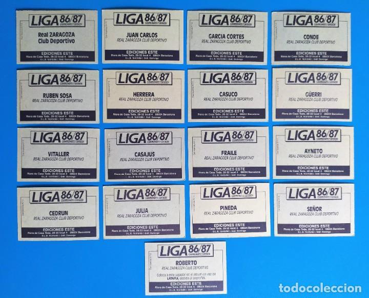 Cromos de Fútbol: Liga Este 1986 1987 / 86 87 Lote de 340 cromos diferentes nunca pegados - Foto 37 - 257319230