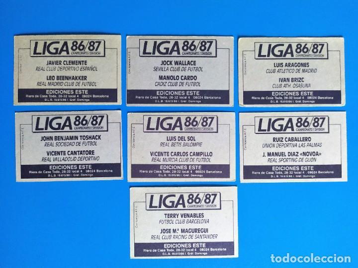 Cromos de Fútbol: Liga Este 1986 1987 / 86 87 Lote de 340 cromos diferentes nunca pegados - Foto 39 - 257319230