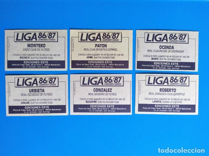 Cromos de Fútbol: Liga Este 1986 1987 / 86 87 Lote de 340 cromos diferentes nunca pegados - Foto 41 - 257319230