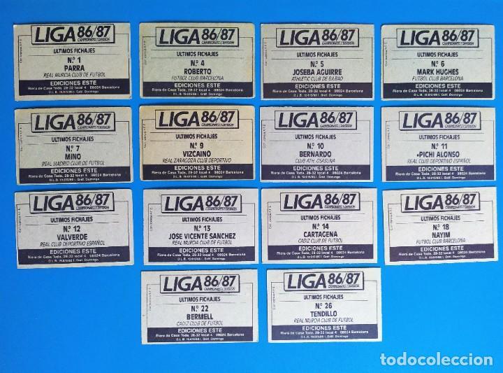 Cromos de Fútbol: Liga Este 1986 1987 / 86 87 Lote de 340 cromos diferentes nunca pegados - Foto 43 - 257319230