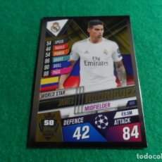 Cromos de Fútbol: W58 JAMES RODRIGUEZ REAL MADRID WORLD STAR TOPPS CHAMPIONS LEAGUE 101 2019 2020 19 20 W 58. Lote 257354515