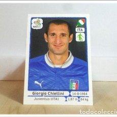 Cromos de Fútbol: EURO2012 POLAND UKRAINE PANINI CHIELLINI Nº 318 ITALIA ALBUM EURO 2012 EUROCOPA POLONIA UCRANIA. Lote 257557160