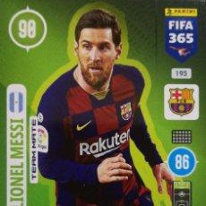 Cromos de Fútbol: 195 LIONEL MESSI - FC BARCELONA - PANINI ADRENALYN FIFA 365 2020 2021 20 21. Lote 259327830