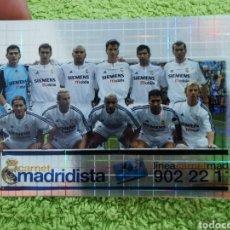 Cromos de Fútbol: N°694 ALINEACIÓN REAL MADRID MUNDICROMO 2003 2004. Lote 260814995