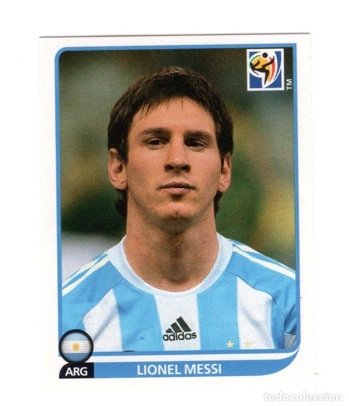ARGENTINA MESSI SUDAFRICA 2010 STICKER 122 UNUSED NICE (Coleccionismo Deportivo - Álbumes y Cromos de Deportes - Cromos de Fútbol)