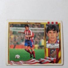 Cromos de Fútbol: CROMO TONI - ATLÉTICO DE MADRID. Lote 261554895