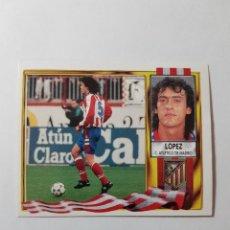 Cromos de Fútbol: CROMO LÓPEZ - ATLÉTICO DE MADRID. Lote 261555040