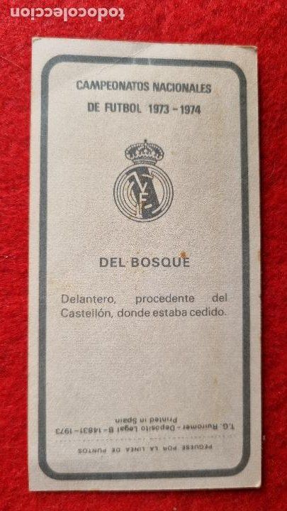 Cromos de Fútbol: CROMO FUTBOL DEL BOSQUE 193 RUIZ ROMERO LIGA 1973 1974 73 74 NUEVO ORIGINAL CR17 - Foto 2 - 261558445