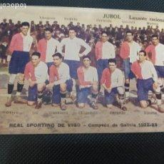 Cromos de Fútbol: CROMO TARJETA POSTAL REAL SPORTING DE VIGO CAMEPON DE GALICIA 1922 1923 PUBLICIDAD URODONAL. Lote 261582435