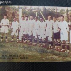 Cromos de Fútbol: CROMO TARJETA POSTAL REAL MADRID CAMPEON DEL CENTRO 1922 1923 PUBLICIDAD URODONAL. Lote 261582995