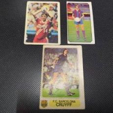 Cromos de Fútbol: LOTE 3 CROMOS DIFERENTES JOHANN CRUYFF FC BARCELONA 1977 1980 ESTE PACOSA 2 LEER. Lote 261583630