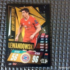Cromos de Fútbol: LE7G LEWANDOWSKI BAYERNN MUNCHEN GOLD LIMITED ED TOPPS 2020 2021 MATCH ATTAX CHAMPIONS LEAGUE 20 21. Lote 261660220