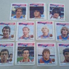 Cromos de Fútbol: LOTE DE 11 CROMOS DE FUTBOL. SUPER-CROMO BOOMER. CHICLES BOOMER. ALONSO, MARADONA, MARCOS.... Lote 261672325