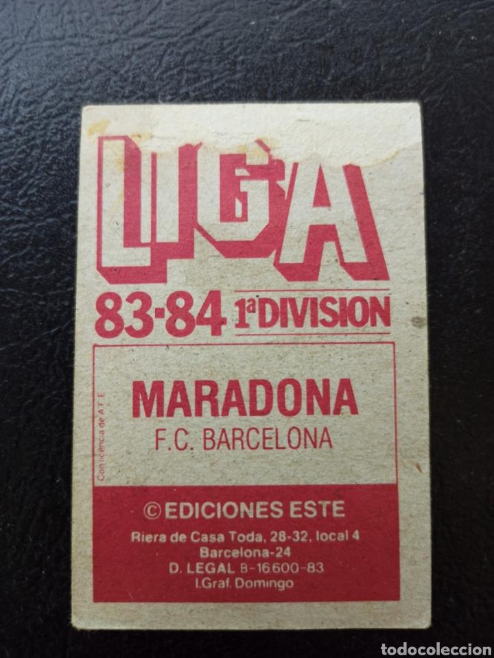 Cromos de Fútbol: DIEGO ARMANDO MARADONA LIGA 1983 1984 Ediciones Este FC BARCELONA - RECUPERADO - Foto 2 - 277477898