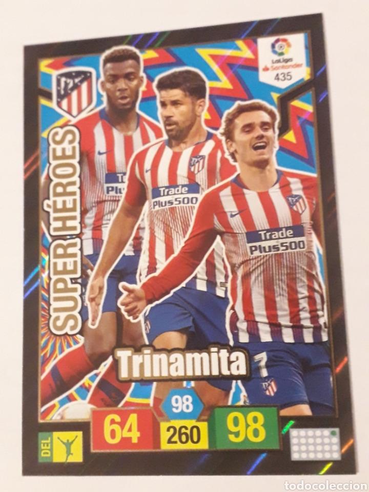 435 TRINAMITA SUPER HEROES ATLÉTICO DE MADRID ADRENALYN XL 2018 2019 18 19 TRADING CARD GAME LIGA PA (Coleccionismo Deportivo - Álbumes y Cromos de Deportes - Cromos de Fútbol)