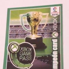Cromos de Fútbol: 469 BIS CAMPEÓN CARD X BOX ADRENALYN XL 2018 2019 18 19 TRADING CARD GAME LIGA PANINI. Lote 262151475