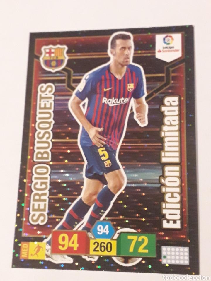 SERGIO BUSQUETS EDICIÓN LIMITADA ADRENALYN XL 2018 2019 18 19 TRADING CARD GAME LIGA PANINI (Coleccionismo Deportivo - Álbumes y Cromos de Deportes - Cromos de Fútbol)