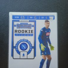 Cromos de Fútbol: ALEX MERET ROOKIE TICKET RT-39 PANINI CHRONICLES CONTENDERS SOCCER 2019 2020 SSC NAPOLI. Lote 262213230