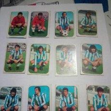 Cromos de Fútbol: 12 CROMOS MALAGA 76/77 EDICIONES ESTE- NUNCA PEGADOS. Lote 262351060