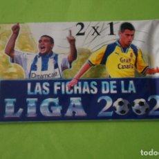 Cartes à collectionner de Football: SOBRE DE CROMOS DE FÚTBOL SIN ABRIR DE LAS FICHAS DE LA LIGA 2002 DE MUNDICROMO. Lote 262385060