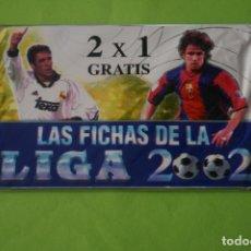 Cartes à collectionner de Football: SOBRE DE CROMOS DE FÚTBOL SIN ABRIR DE LAS FICHAS DE LA LIGA 2002 DE MUNDICROMO. Lote 262386115
