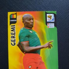 Cromos de Fútbol: GEREMI CAMERUN ADRENALYN SOUTH AFRICA MUNDIAL SUDAFRICA 2010 CROMO FUTBOL 10 - A36 - PG19. Lote 262572745