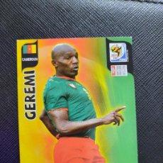 Cromos de Fútbol: GEREMI CAMERUN ADRENALYN SOUTH AFRICA MUNDIAL SUDAFRICA 2010 CROMO FUTBOL 10 - A36 - PG19 B. Lote 262574940