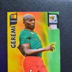 Cromos de Fútbol: GEREMI CAMERUN ADRENALYN SOUTH AFRICA MUNDIAL SUDAFRICA 2010 CROMO FUTBOL 10 - A36 - PG28. Lote 262574990