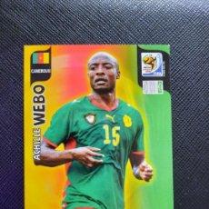 Cromos de Fútbol: WEBO CAMERUN ADRENALYN SOUTH AFRICA MUNDIAL SUDAFRICA 2010 CROMO FUTBOL 10 - A36 - PG28. Lote 262575040