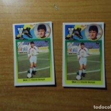 Cromos de Fútbol: SALA DEL ALBACETE ALBUM ESTE LIGA 1993- 1994 ( 93 - 94 ) CARTON LAS DOS VERSIONES. Lote 262613680