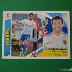 Cartes à collectionner de Football: 6 TORRES - MÁLAGA - EDICIONES ESTE 2017-18 - 17/18 (NUEVO). Lote 146041404